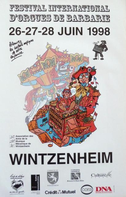 2ème Festival International d'Orgues de Barbarie - 1998