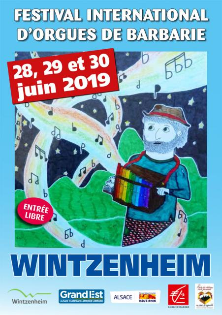 Affiche du festival International d'orgues de barbarie 2019