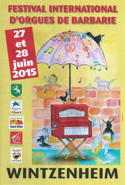 10ème Festival International d'Orgues de Barbarie - 2015