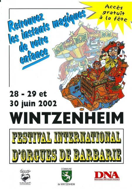 4ème Festival International d'Orgues de Barbarie - 2002