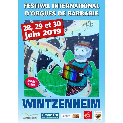 Affiche du festival International d'orgues de barbarie 2019